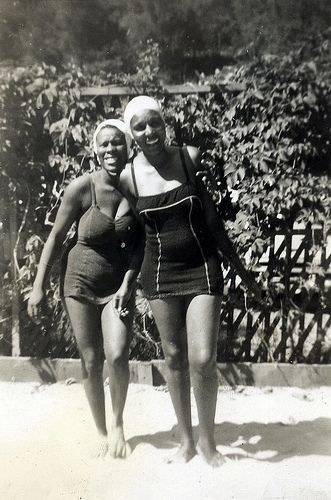 african americans in 1930's | african-american women in bathing suits, circa 1930 , originally ...