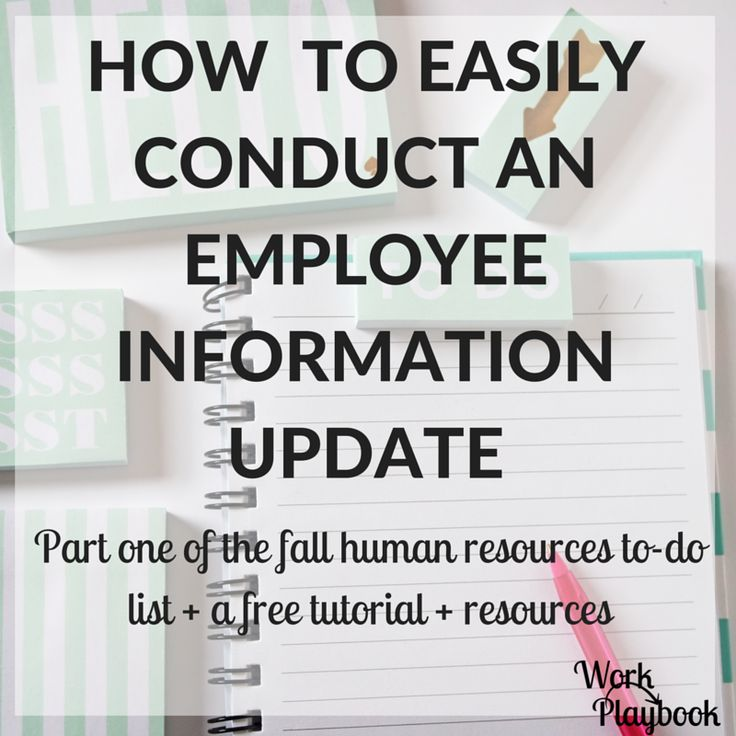 43 best Human Resources images on Pinterest Health and safety - employee update form