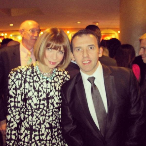Anna Wintour with Marcelo Toledo