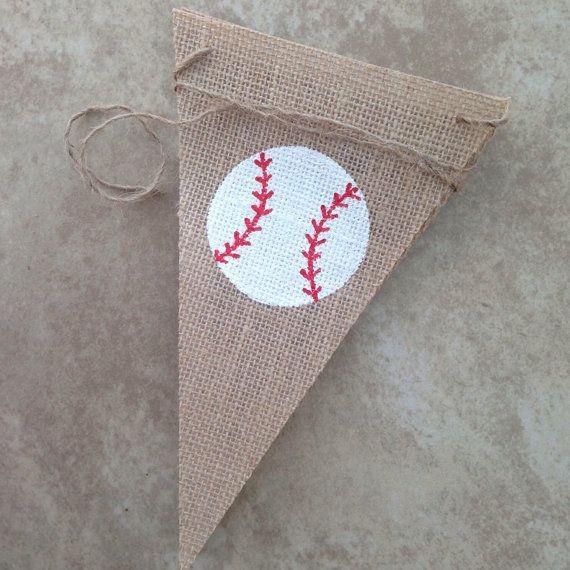Baseball Decor/ Baseball Banner/ Burlap by NurturedSoulDesigns