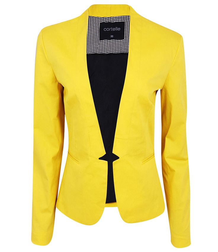 Resultado de imagem para blazer feminino acinturado amarelo
