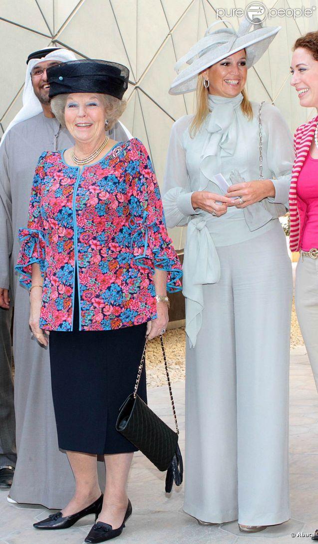 Visite à Masdar City, à Abu Dhabi. La reine Beatrix, le prince Willem-Alexander et la princesse Maxima des Pays-Bas effectuaient les 8 et 9 janvier 2011 une visite officielle dans les Emirats arabes unis