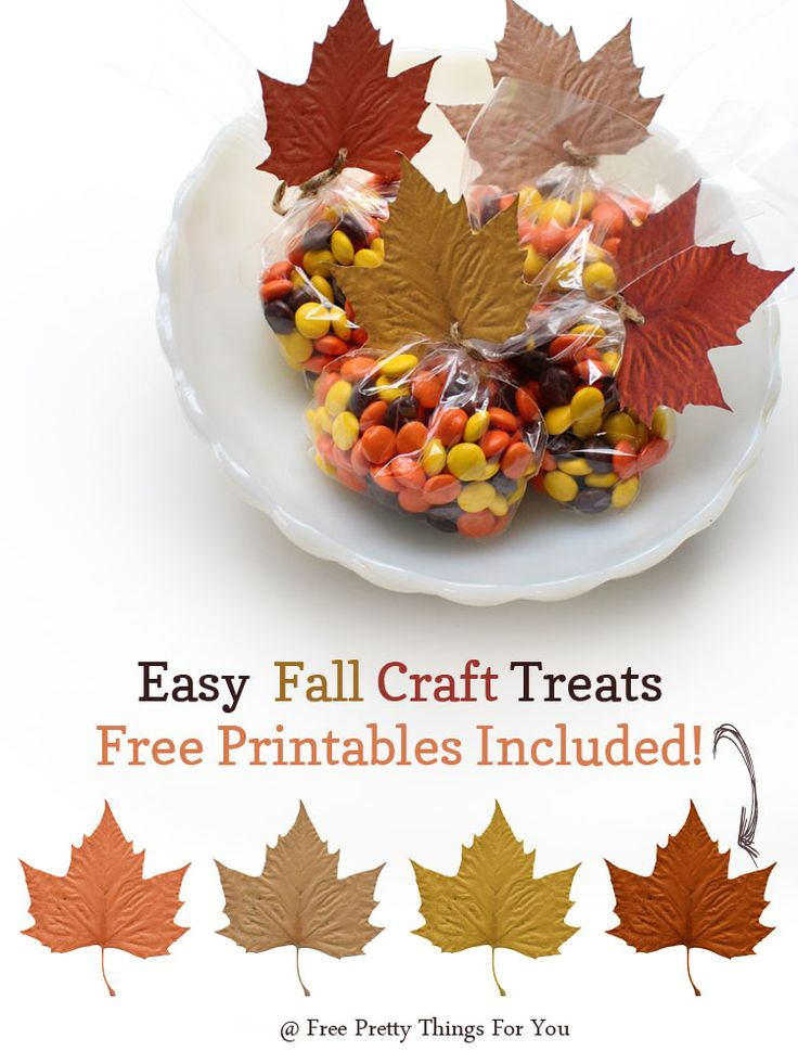 Autumn: Easy Fall Treats Leaf Printables - Free Pretty Things For You