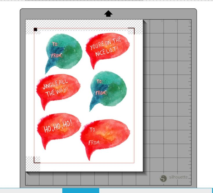 Gifting festive speech bubble stickers
