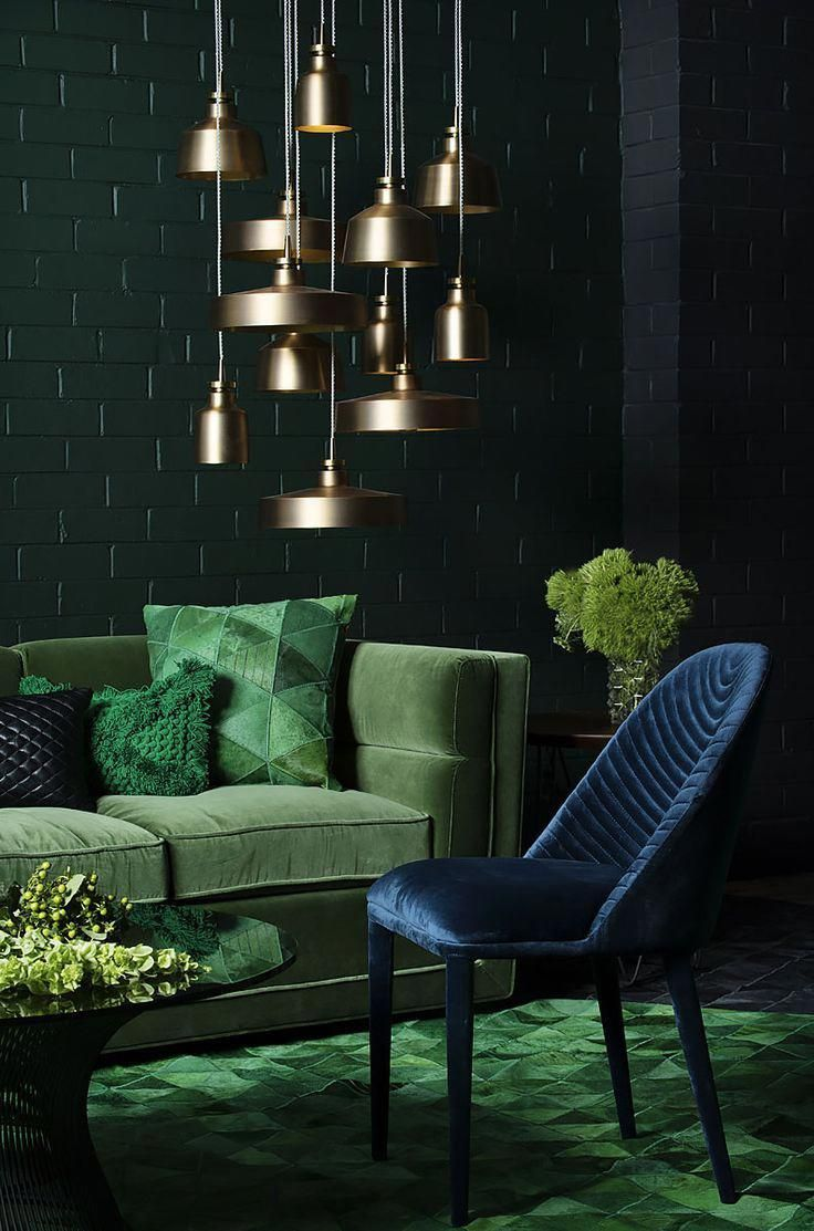 Trend Decor Living Room Green Dark Living Rooms