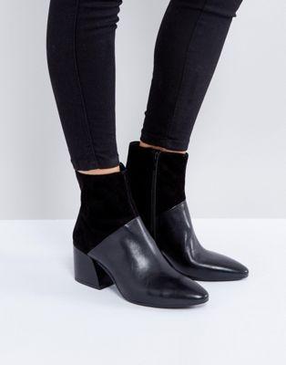 Vagabond Olivia Black Leather Heeled
