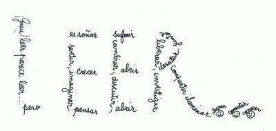 Escritura creativa con caligramas. Un idea divertida y original