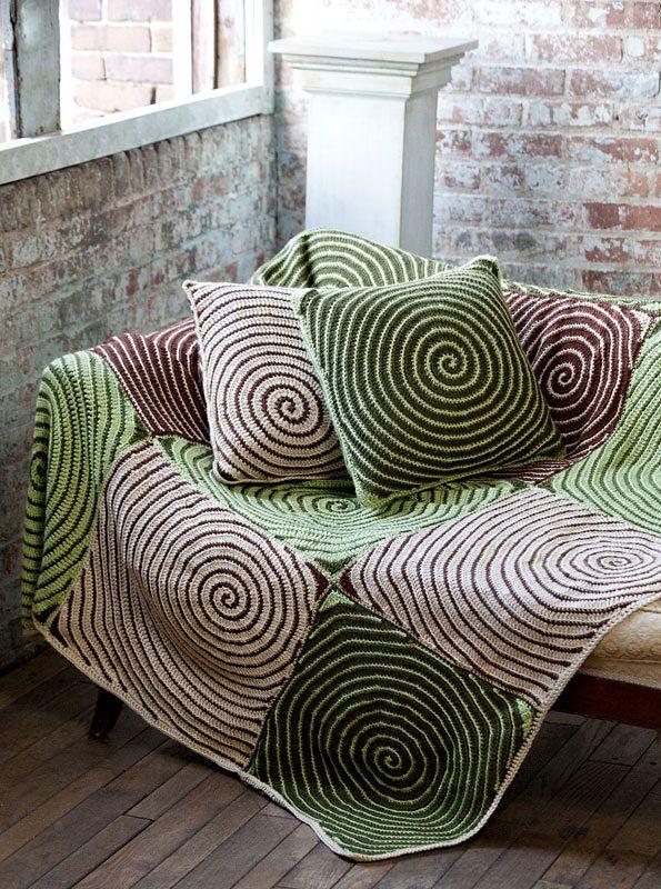Ravelry: Vortex Throw & Pillows pattern by Lisa Gentry
