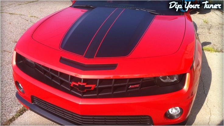 Custom Red Plasti Dip Camaro | Plasti dipped cars | Plasti ...