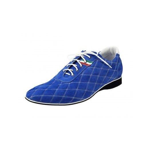 Pánske kožené športové topánky modré PT138 - manozo.hu
