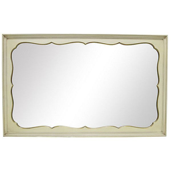 Pre-Owned Cream & Gilt Buffet Mirror ($395) ❤ liked on Polyvore featuring home, home decor, mirrors, ivory mirror, cream mirror, antique white wall mirror, cream wall mirror and gold gilt mirror