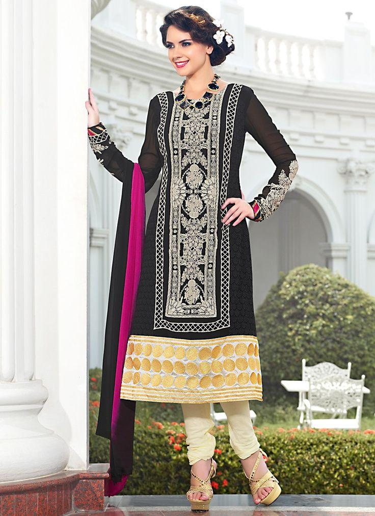 Astounding Resham Enhanced Pakistani Suit