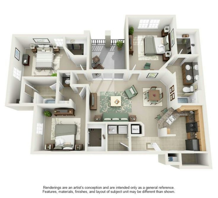 136 Best Plan 3D Images On Pinterest House Blueprints, Future