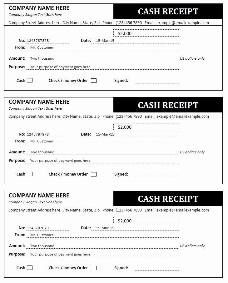 Simple Cash Receipt Template Lovely Cash Receipt And Invoice Templates Receipt Template Invoice Template Free Receipt Template