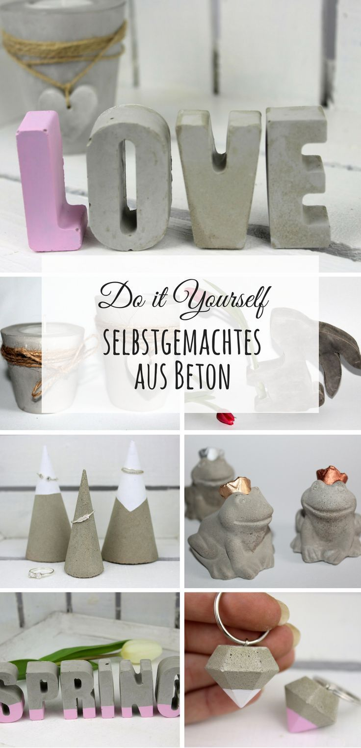 Diy Die Schonsten Do It Yourself Ideen Aus Beton Diy Basteln