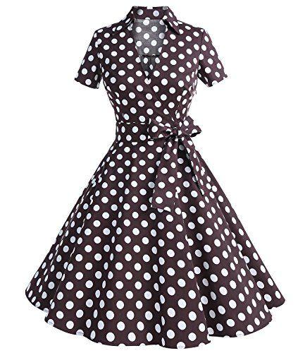 Mini robe robe imprimée Robe années 60 Robe de cocktail courte Robe Robe Patineuse