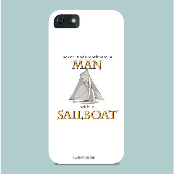 Smart Phone Cover - Man with a sailboat | Nautination gifts for sailors…