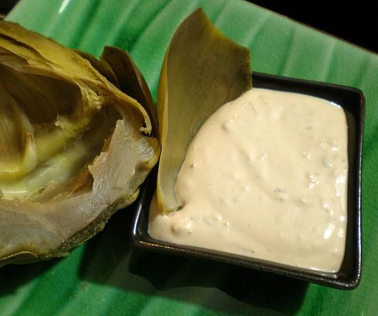 Best Dipping Sauce for Steamed Artichokes from Food.com: This rich dipping sauce comes courtesy of my wonderful brother-in-law ... a very good cook! I had this at his house and blackmailed my sister into sneaking out the recipe to me. Worth it!!!