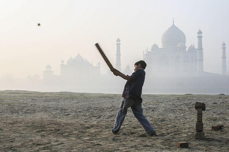 Cricket near the Taj Mahal, Agra, Uttar Pradesh