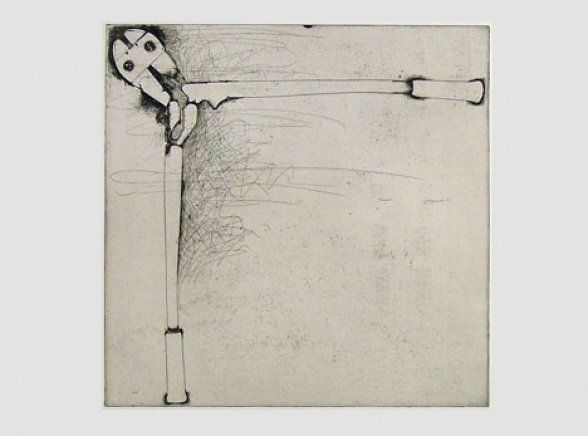 Jim Dine - Bolt Cutters, 1972 Etching. Paper: 101.6 x 76.2 cm, Image: 60.3 x 61.6 cm, Edition of 75