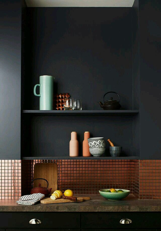 Best Copper With Dark Grey Walls With Images Home Kitchens 640 x 480