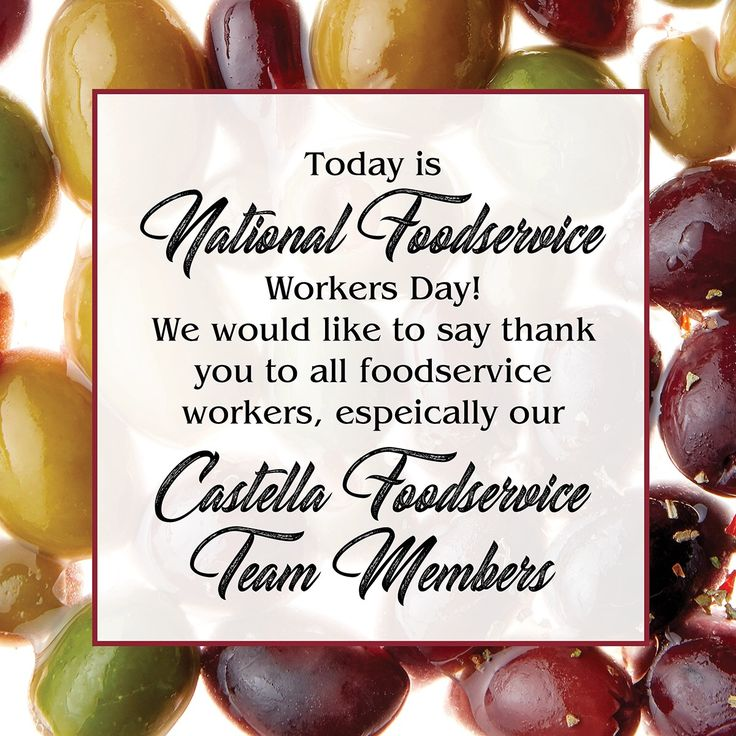 Happy #FoodServiceWorkersDay! Thank you to all Foodservice workers, we appreciate all that you do!