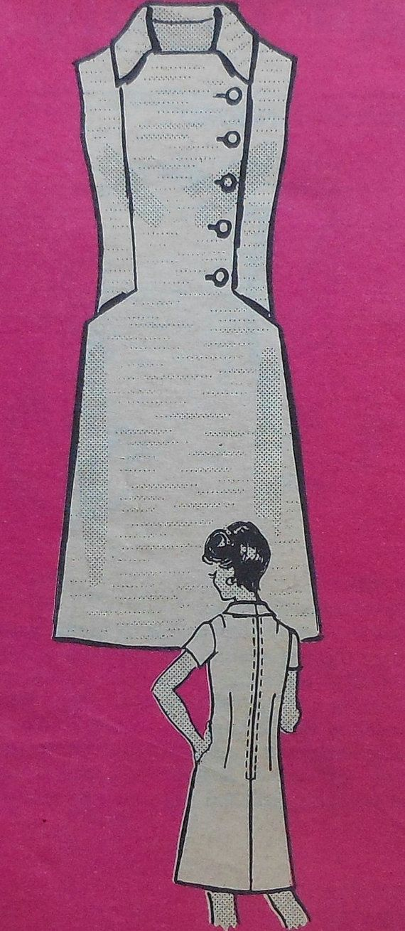 Vintage Dress Sewing Pattern UNCUT Size 14.5 half size Mail Order Pattern