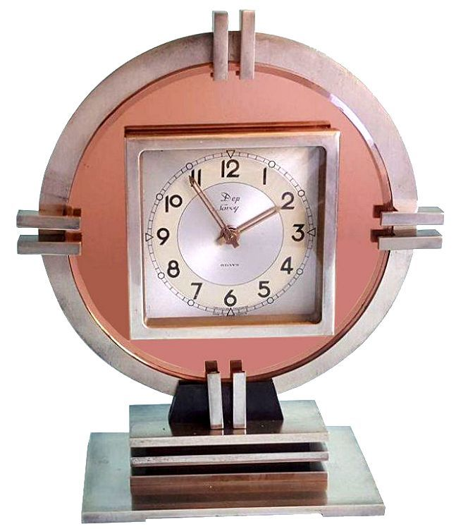 Art Deco Machine Age Clock