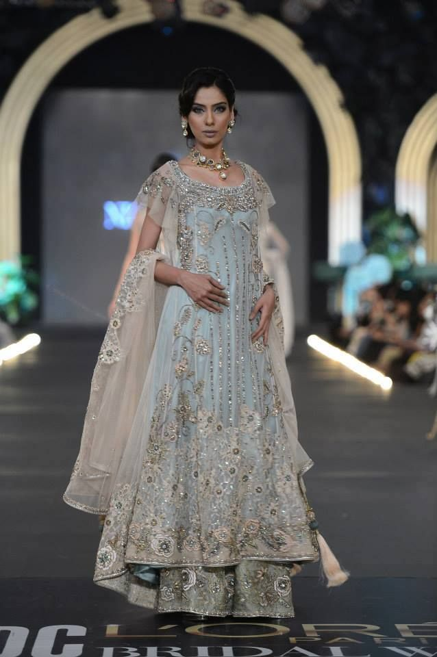 Pakistani Wedding Bridal gown - soft blue