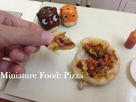 ASMR Mini Food: Cheesy Meaty Pizza ピザ (DIY) (Miniature Cooking Sound) (Kids toys) - YouTube