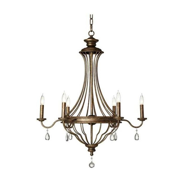 Nebraska furniture mart pacific coast lighting french quarter chandelier in bronze