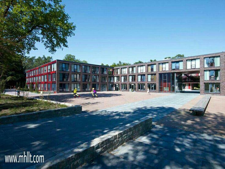 Twente University Dormitories in Netherlands - Courtyard and high-rise dormitories.http://mhllt.com/twente-university-dormitories/  #AronsGelauffArchitecten #TwenteUniversity #Enschede #Netherlands #Campus #University #Dormitory #ClimbingWall #Architecture #Design #Interior #Exterior #Furniture #mhllt #FurnitureBali #FurnitureIndonesia #FurnitureManufactureBali #FurnitureManufactureIndonesia #HighQualityFurnitureBali #HighQualityFurnitureIndonesia #BaliFurniture #IndonesiaFurniture