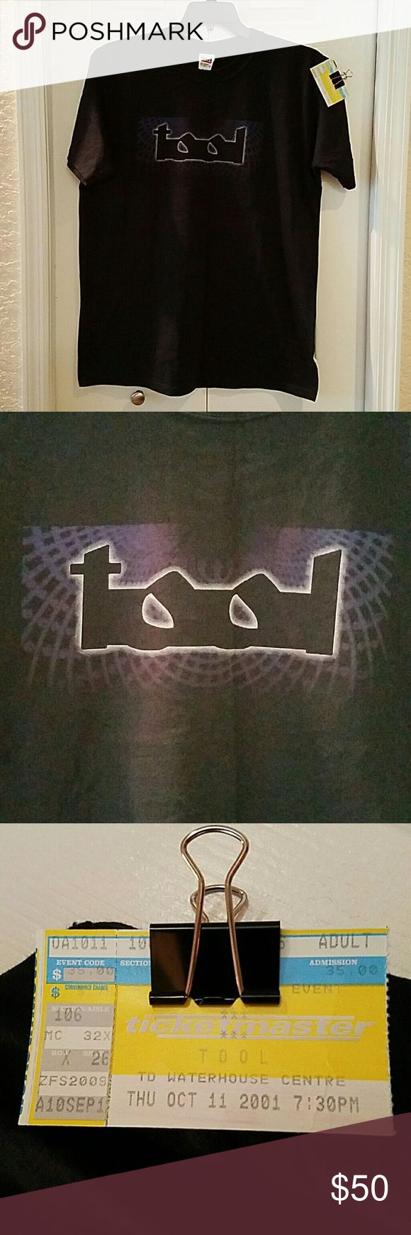 Tool concert Tee shirt 2001 size Large Offered is a great Tool concert Tee shirt from 10/11/01 in Orlando, FL.  Men's Size Large. Ticket stub included for provenance. Lateralus Tour. Never worn. Shirts Tees - Short Sleeve