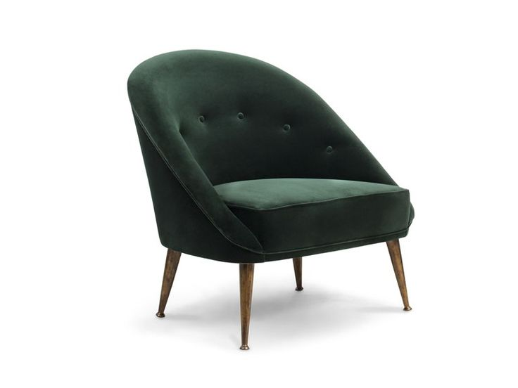 Style Of Upholstered velvet armchair MALAY by BRABBU Model - Fresh floating chair for bedroom Simple Elegant