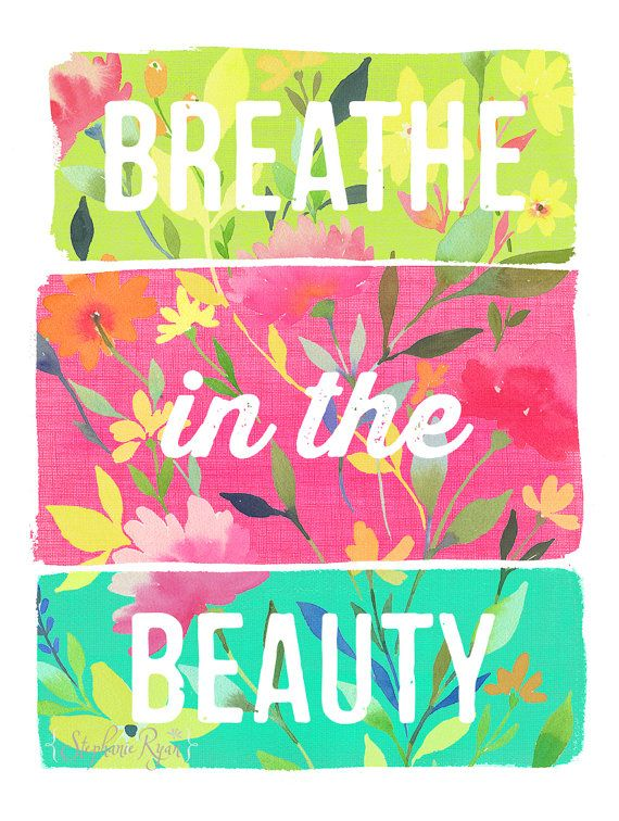 Archival quality print reproduction of my watercolor art painting, Breathe in the Beauty.    This piece is printed on beautiful high quality