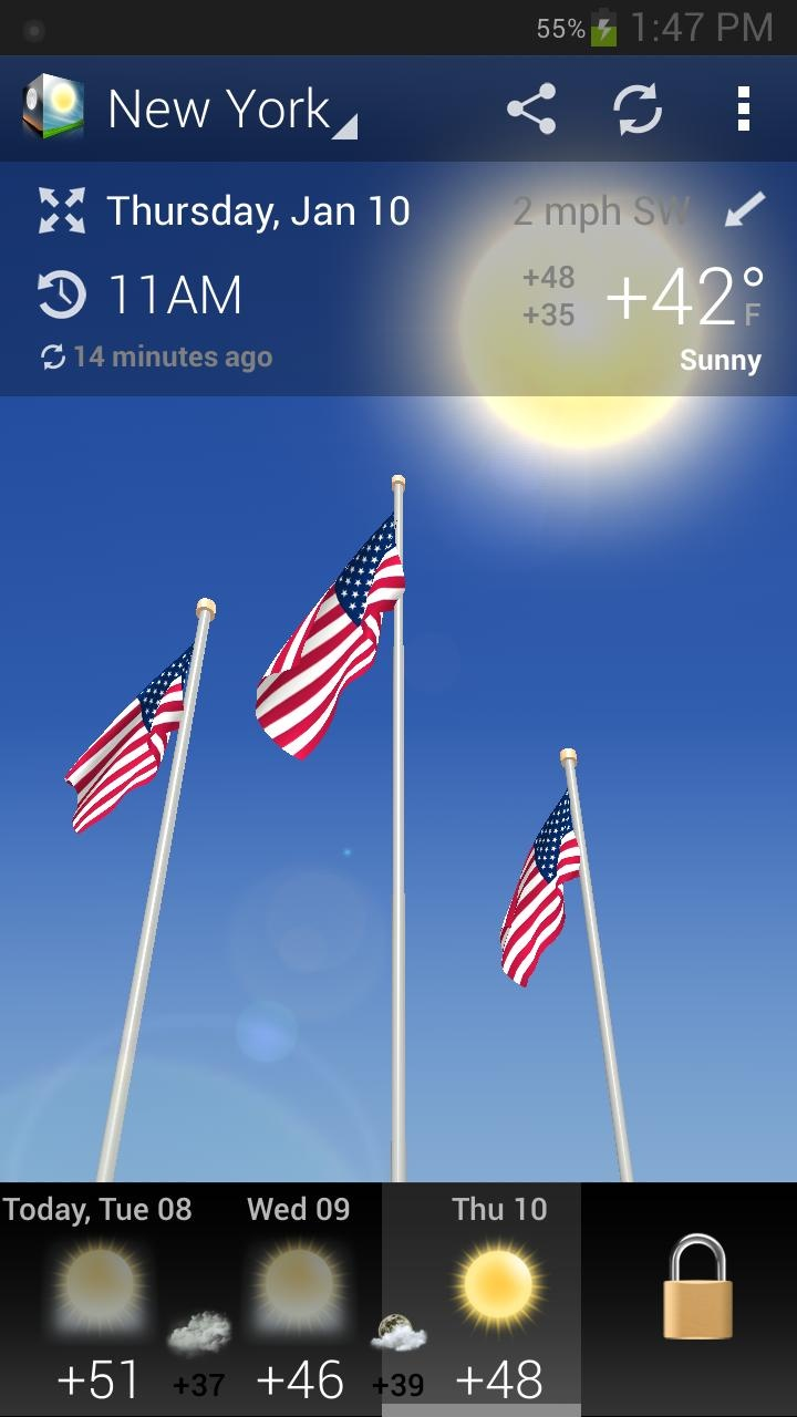 3D Weather for Android: Free Weather Forecast App with Realistic 3D Effects