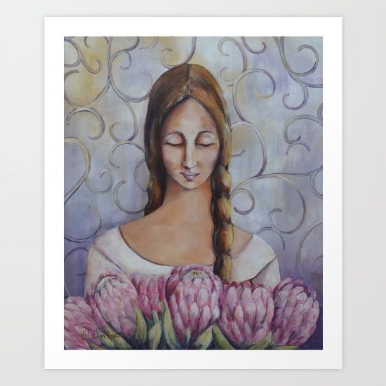 #painting #decorative #figurative #proteas #floral #pink #classic #acrylicpainting #wallart
