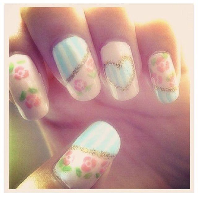 147 best Nail art - spring/summer art images on Pinterest   Nail ...