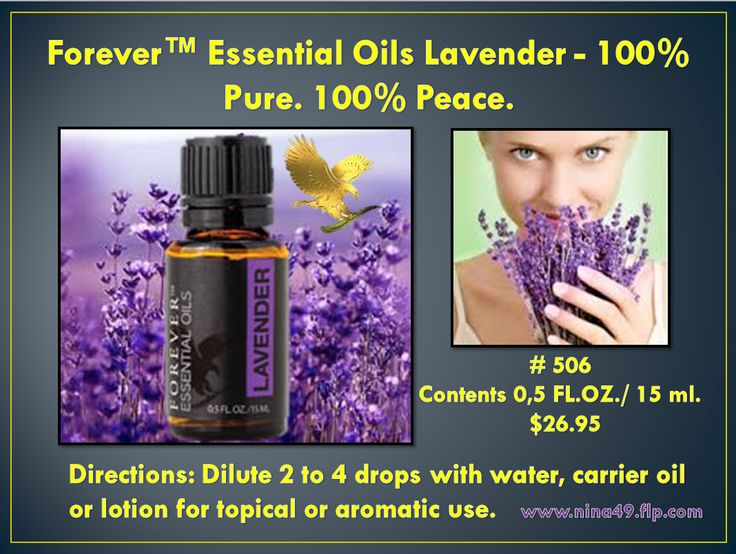 Forever Living provides nature's purest Lavender Oil to soothe, relax and calm. Order at: www.nina49.flp.com