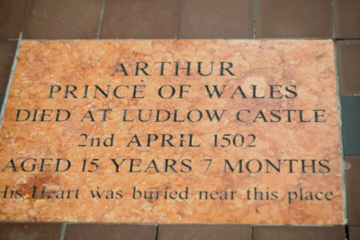 Older brother of Henry VIII and first husband to Katherine of Aragon. Resting place - Worcester Cathedral, Worcester, UK.