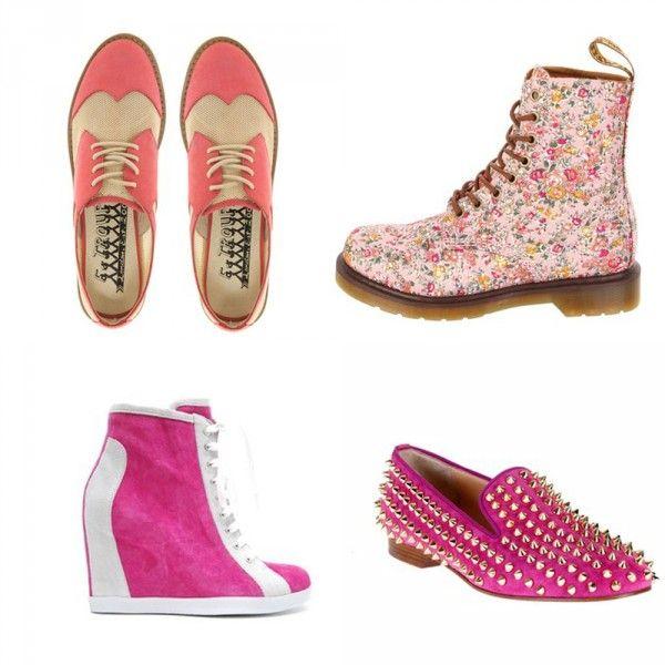 розовые туфли мужского и спортивного стиля