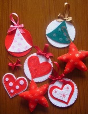 adornos navidad fieltro - Adornos Navideos De Goma Eva