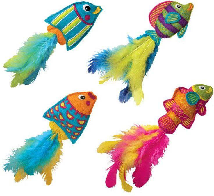 Tropics Fish W Catnip Cat Toy