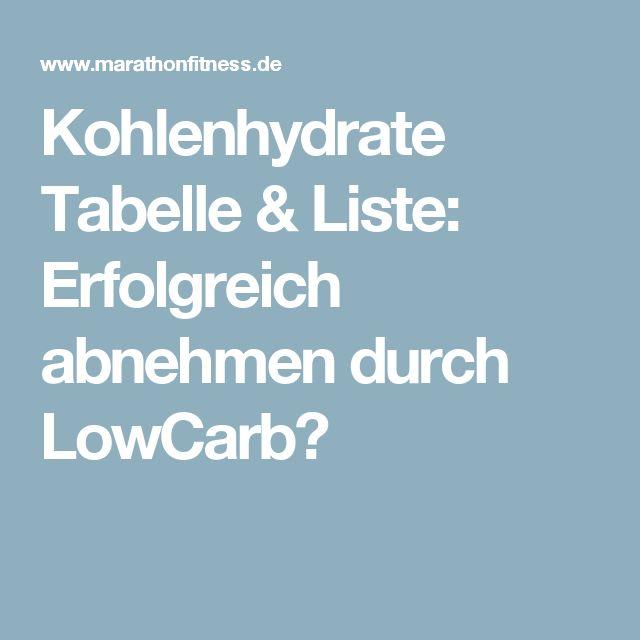 Kohlenhydrate Tabelle & Liste: Erfolgreich abnehmen durch LowCarb?