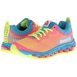Zappos.com is proud to offer the Reebok - Z Jet (Flight Blue/Solar Yellow/Solar Pink) - Footwear: For a running experience unlike any other, the Reebok Z Jet offers unmatched comfort with full-foot air technology that flexes with the runner's foot. ; Part of the Moving Air Collection. ; Breathable mesh upper with synthetic Nanoweb overlays for durability. ; Low-cut silhouette for added mobility. ; Lace-up closure for optimal fit. ; Heel pull-tab for easy on and off. ; JetFuse technology ...