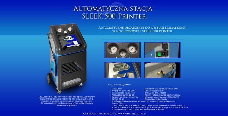 Stacja do autoklimatyzacji SLEEK . W pełni automatyczne urządzenie do obsługi klimatyzacji samochodowych. Szczegóły na www.mastermot.com