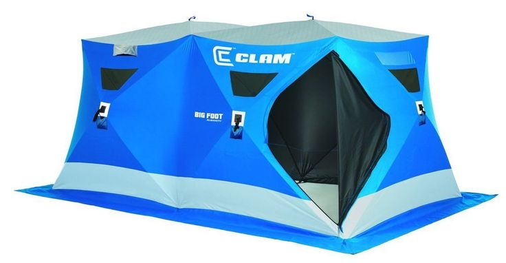 Clam Ice Fishing Tent 8 person great for fishing with groups!