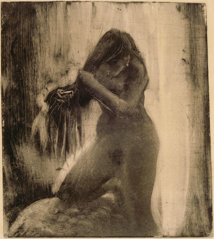 Edgar Degas woman-combing-her-hair-1879-83-