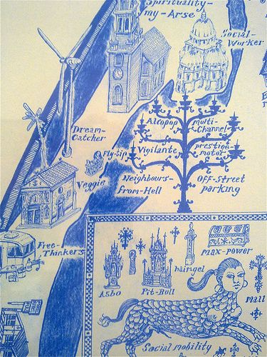 Grayson Perry: Map of nowhere, 2008 (detail) | Flickr - Photo Sharing!