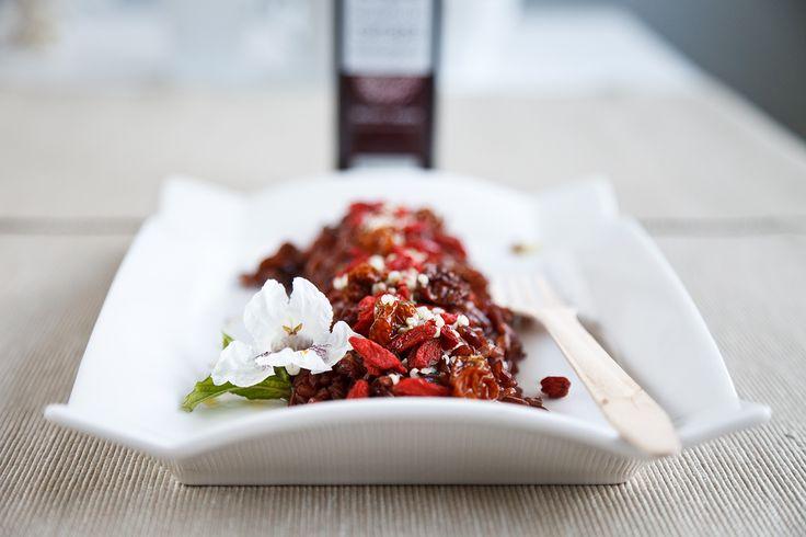 Composizione con riso rosso e bacche di Prodigi della Terra  #vegan #vegetariano #health #salute #ricette #light